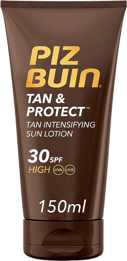 Piz Buin - Protector Solar, Tan & Protect Intensificador del Bronceado Loción SPF 30 - Pack 2 x 150 ml: Amazon.es: Belleza