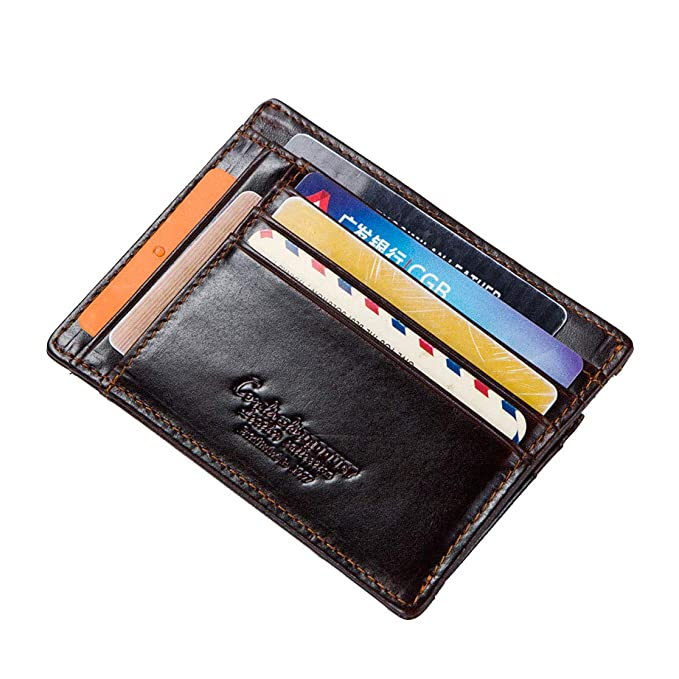 bbe4f29f2af6 Wallets for Men RFID Blocking Credit Card Holder Genuine Leather ...