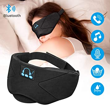 Laelr Auriculares de Dormir Bluetooth, Music Sleep Eye Shades 5.0 ...