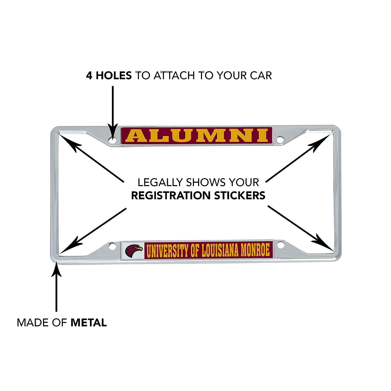 Alumni Desert Cactus University of Louisiana Monroe ULM Warhawks NCAA Metal License Plate Frame for Front Back of Car Officially Licensed