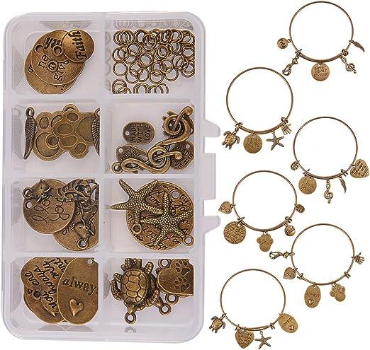 30pcs Antique Bronze Alloy Clothes Hanger Charms Pendants Jewellery Findings