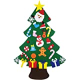 DIY Felt Christmas Tree Set with 26 pcs Detachable Ornaments, Xmas Gifts for Kids New Year Handmade Christmas Door Wall…