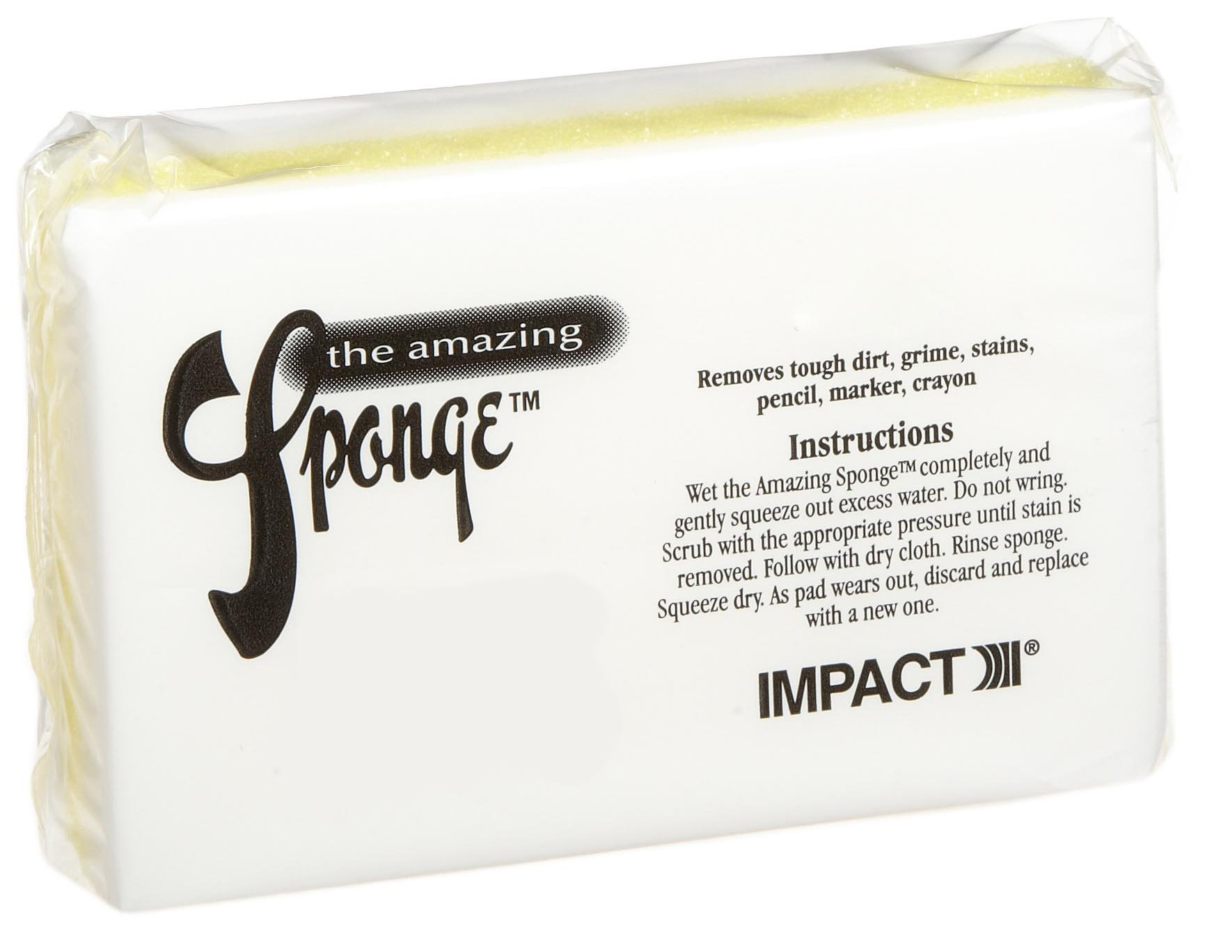 Impact 7150 Yellow White The Amazing Sponge Magic Eraser Pad, 4-1/2'' Length x 2-3/4'' Width x 1-1/2'' Height (Case of 30)