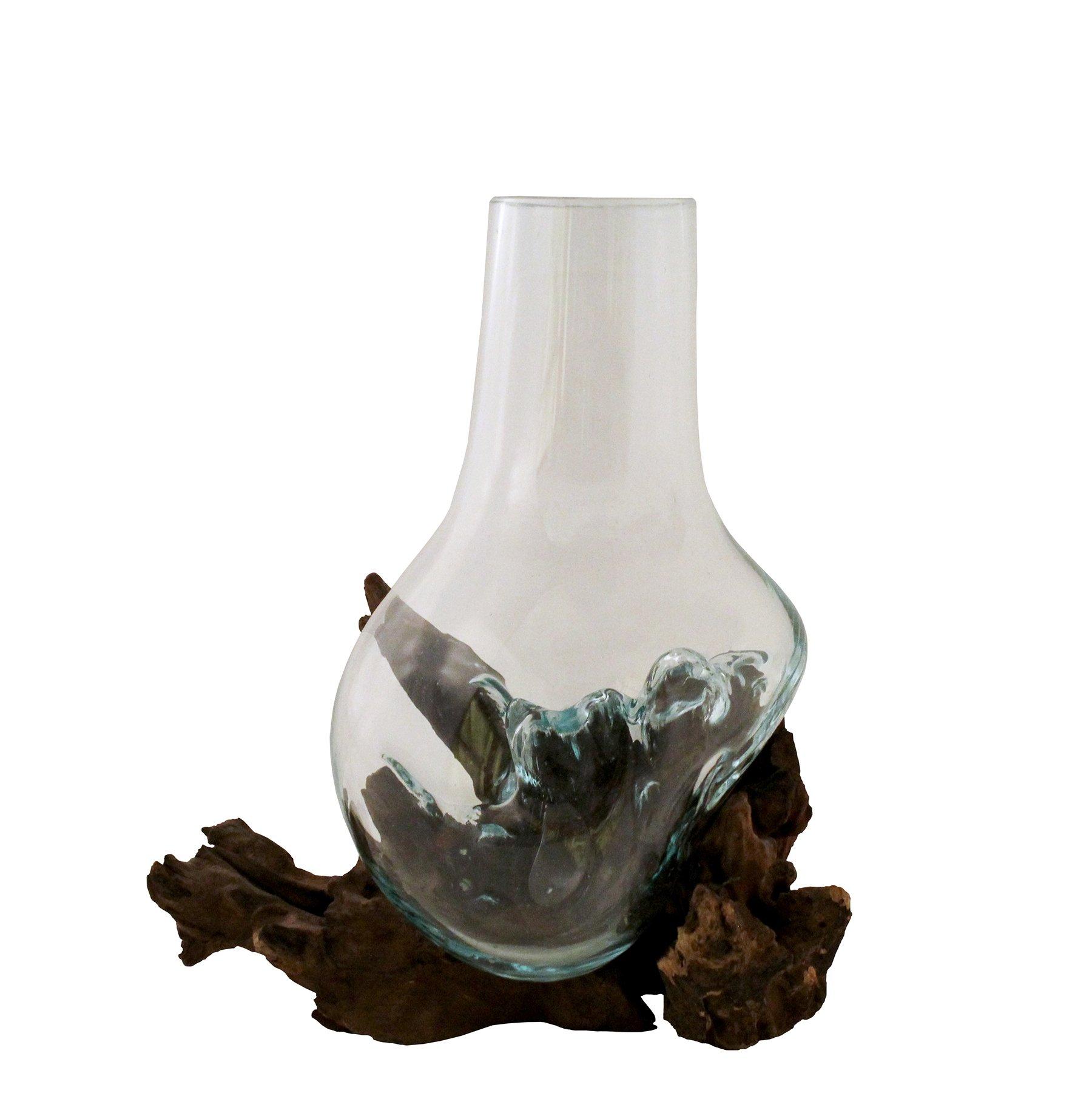 Cohasset 651V-25 10'' Molten Glass Vase