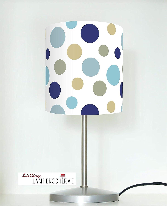 Tischlampe mit groß en Punkten als Nachtlicht fü r Babys und Kinder Kinderzimmer