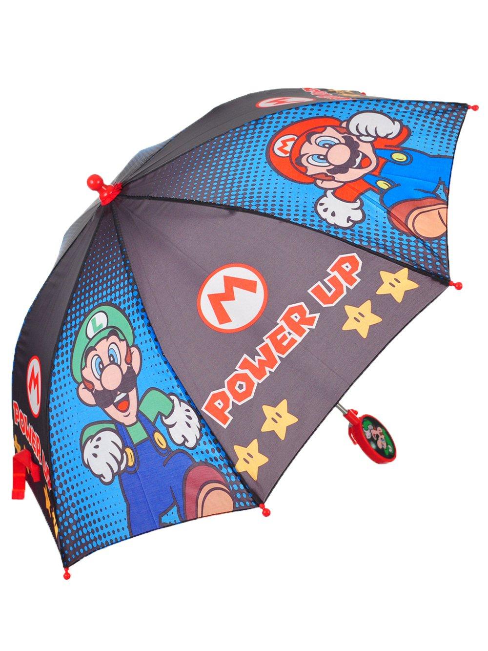 Super Mario Stick Umbrella For Girls, One Size ABG Accessories