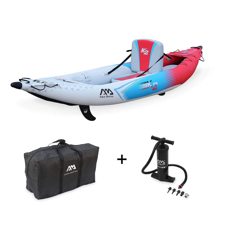 Alices Garden - Canoe Kayak hinchable, 1 persona, 3,12 m + mochila + inflador