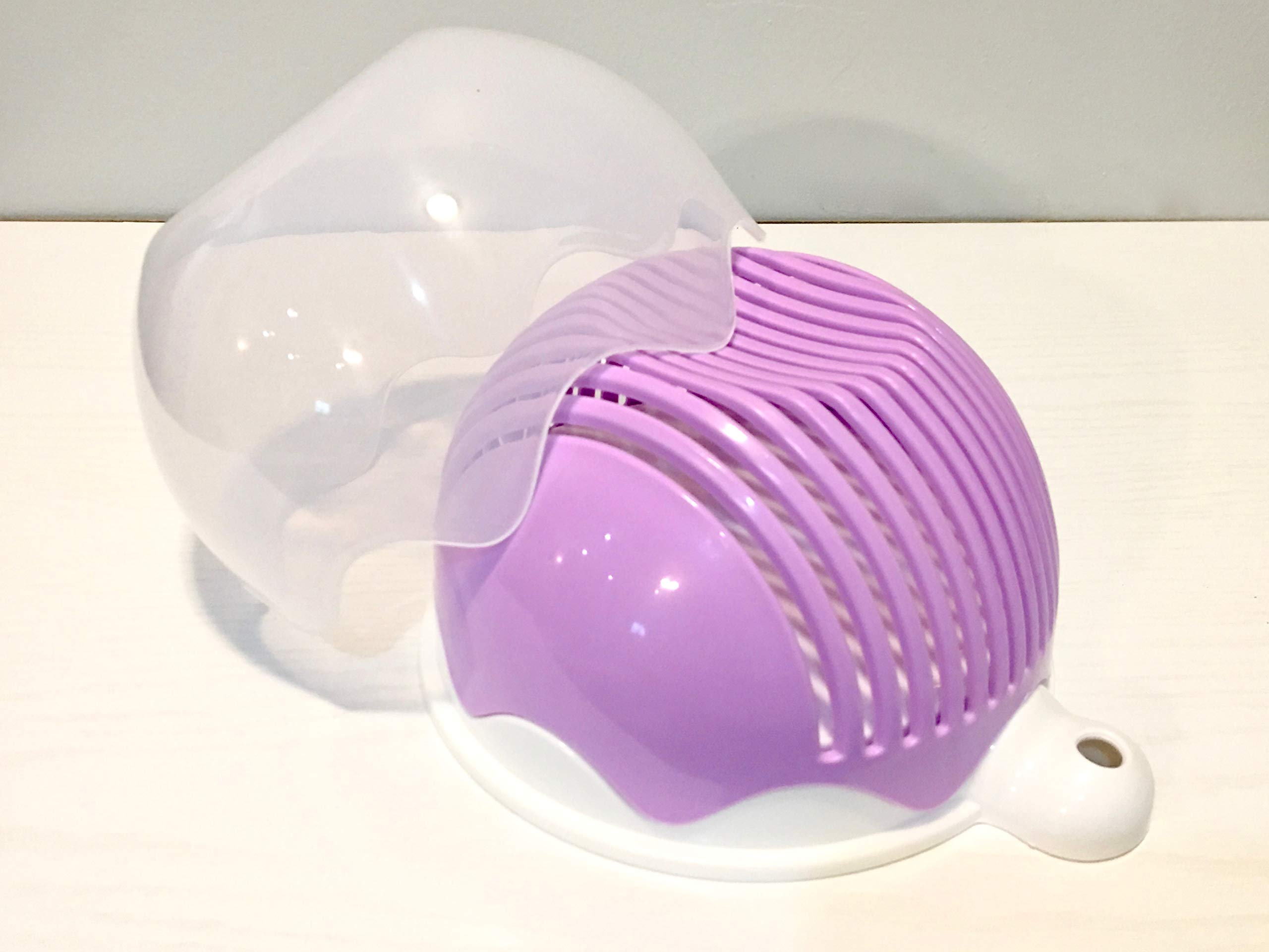 Quick Chop Salad Cutter Bowl - Fresh Salad Sliced in 60 seconds or less (Purple)