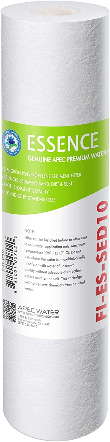 """APEC 5 Micron 10"""" x 2.5"""" Sediment Water Filter For Reverse Osmosis System (FI-ES-SED10)"""