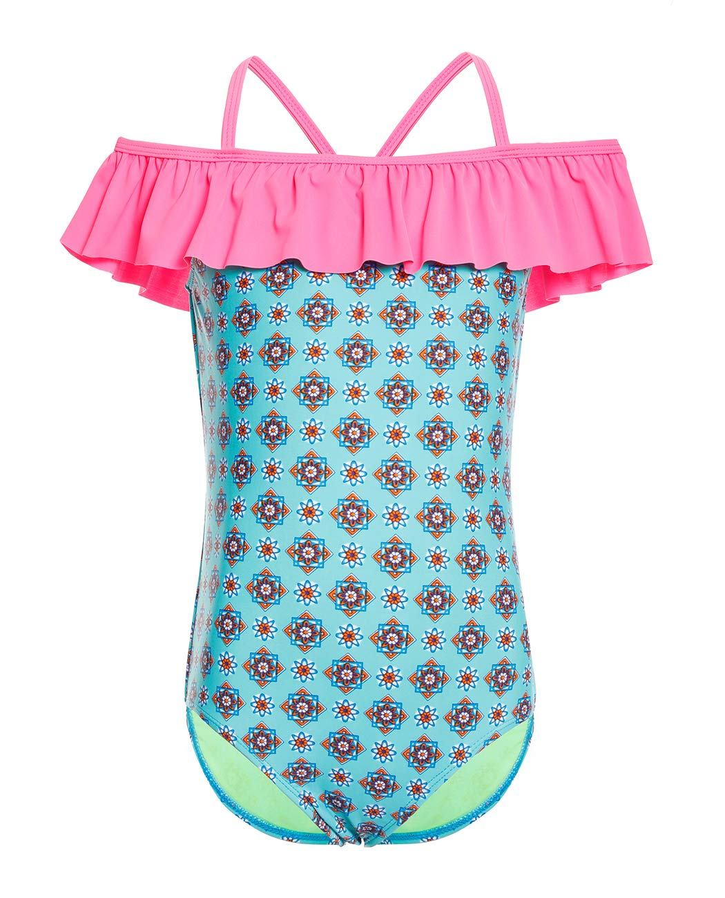 One Piece Bathing Suit for Girls, Sun Protection Beach Wear Size 6-14