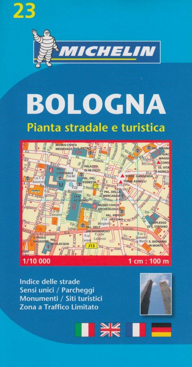 Michelin Bologna: Stadtplan 1:10.000 (MICHELIN Stadtpläne, Band 23)