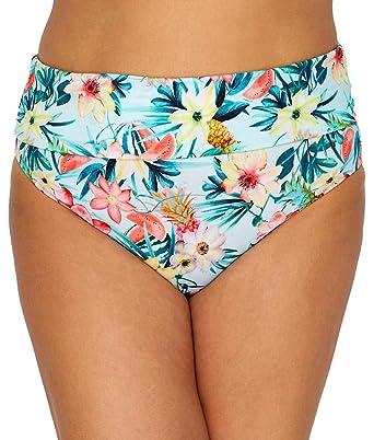 a5d314b596513 Elomi Women's Aloha Fold-Over Brief Bottoms Aqua 16 (US Women's ...