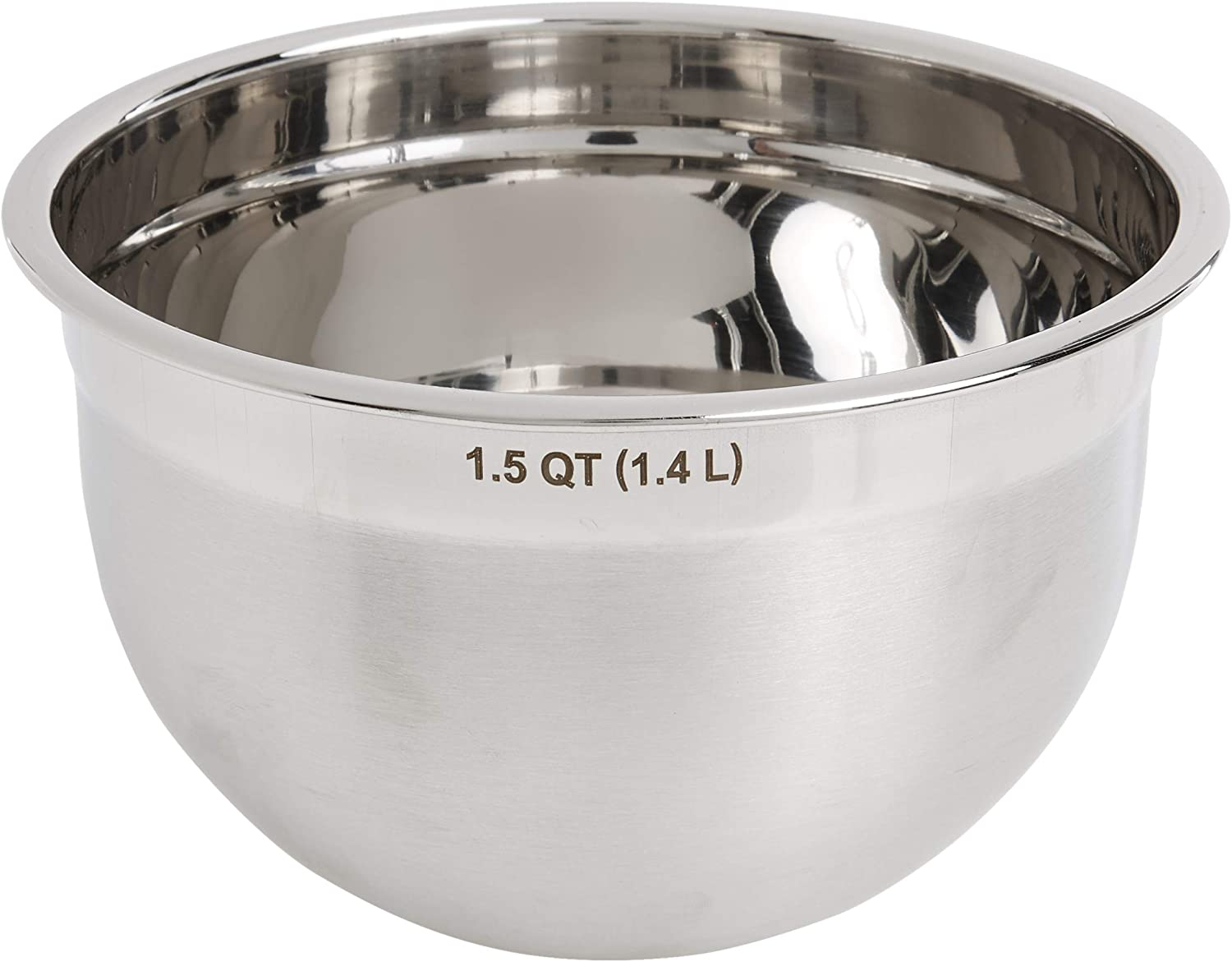 Stainless Steel DishBowl 6 inch ~ Small Double Boiler Pan ~ 1 QT Double Boiler Bowl