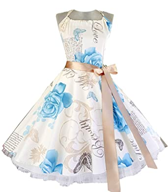 50er Rockabilly TanzKleid mit Petticoat Gr 32,34,36,38,40,42,44,46,48,50,52