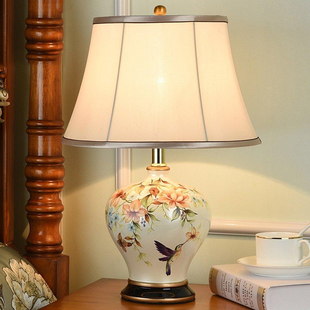Hyvaluable Tisch- & Nachttischlampen Keramik Tischlampe, (4268 ') Chinesisch Mandarin Style Perfekt für alle Wohnzimmer & Schlafzimmer Porzellan Tischlampe - hervorragende Qualität Tischlampe Keramik