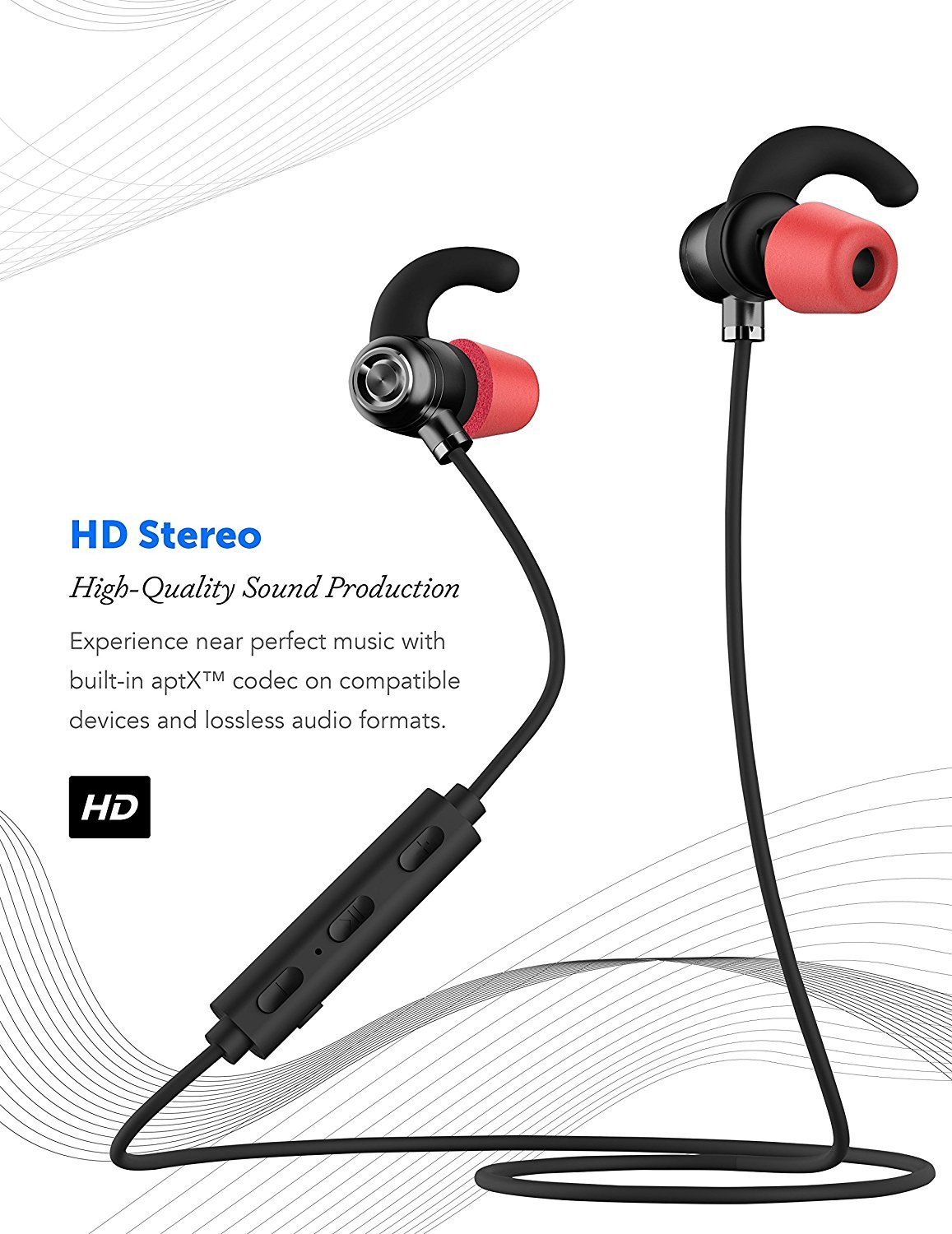 Sonim XP STRIKE Bluetooth Headset In-Ear Running Earbuds IPX4 Waterproof with Mic Stereo Earphones, CVC 6.0 Noise Cancellation, works with, Apple, Samsung,Google Pixel,LG by Ixir (Image #3)