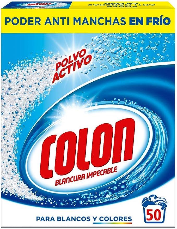Colon - Detergente lavadora formato polvo, azul - 50 lavados ...