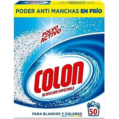 Colon Polvo Activo - Detergente para Lavadora, adecuado para Ropa Blanca y de Color, Formato Polvo - 50 dosis