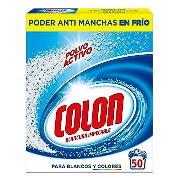 Colon Detergente de Ropa para Lavadora Polvo Activo - 50 Lavados ...
