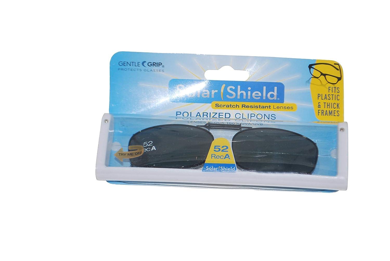 412f57fd22 Amazon.com  Solar Shield Polarized Gray Lens Clip On Sunglasses 52 Rec A   Health   Personal Care
