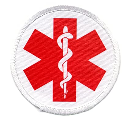amazon com red medical alert symbol 3 inch sew on patch