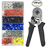 Crimper Plier Set VLIKE Wire Crimping Tool Kit w/1200 Terminal Connector Sleeves | Electricians, Contractors, Repair Support | Ferrule Crimper Pliers for Stripper, Wiring Projects