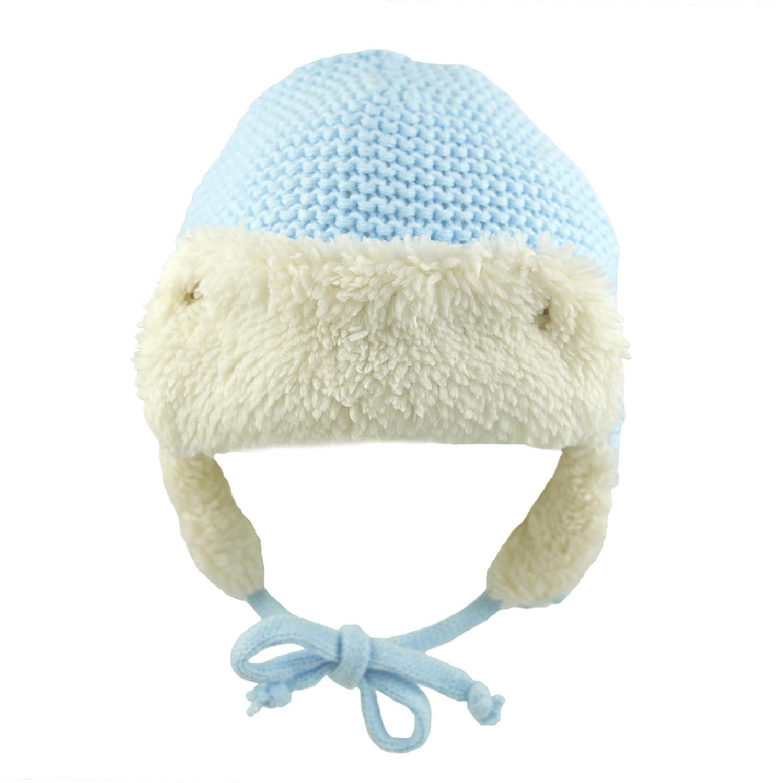 906d4426482ab Pesci Baby Boys Girls Winter Trapper Hat Waffle Knit  Amazon.co.uk  Clothing