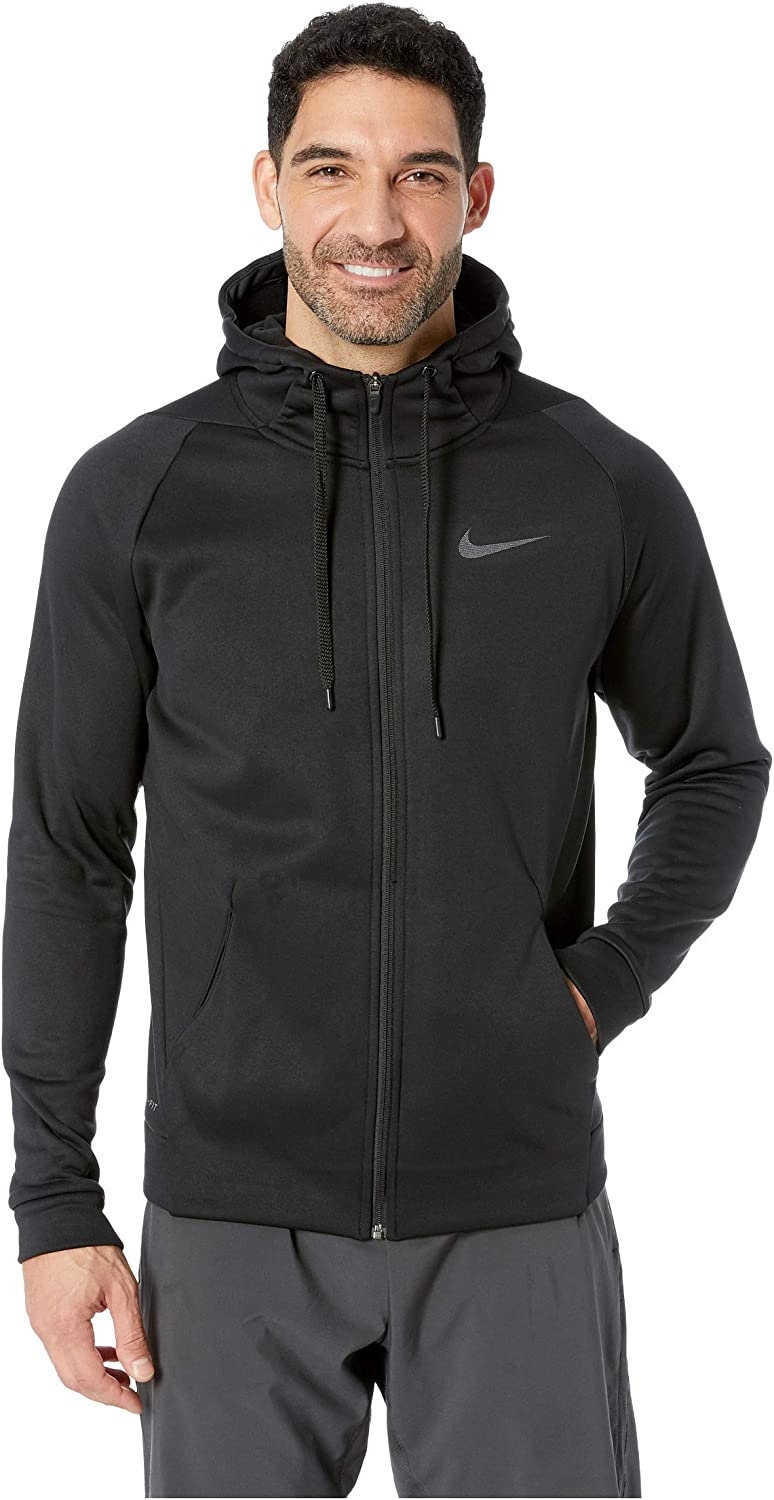 graduado diversión Tierras altas  Nike Men's Dri-FIT Therma Grey/Black Full-Zip Training Hoodie: Amazon.ca:  Clothing & Accessories