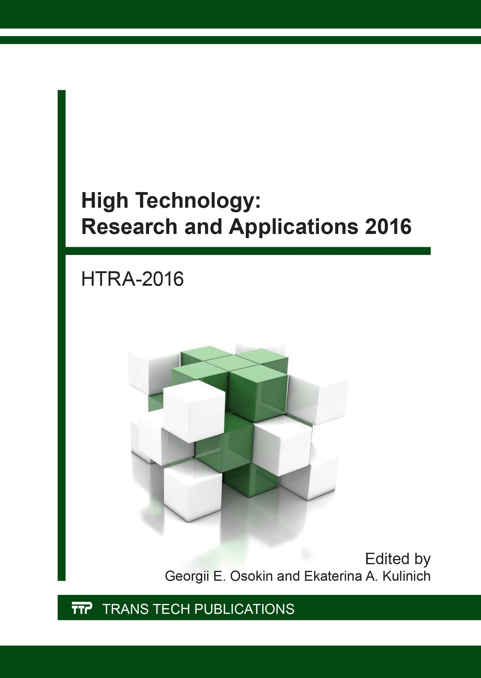 Read Online High Technology: Research and Applications 2016: Selected, Peer Reviewed Papers from The Selected, Peer Reviewed Papers from the V International ... Tomsk, Russia (Key Engineering Materials) pdf