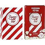 Die Original Popcornloop Popcorntüten 10 x 10er Packungen Insgesamt 100 Stück Material Aus Papier Heimkino Erlebnis