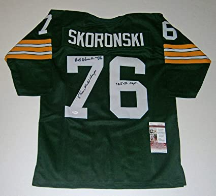 6954cc6deb9 Packers Bob Skoronski Autographed Signed Jersey with 5X Champs Sbi ...