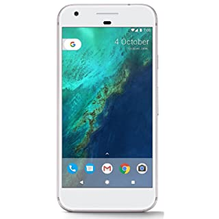 Google Pixel 1st Gen 32GB Factory Unlocked GSM/CDMA Smartphone for all GSM Carriers + Verizon Wireless + Sprint (Very Silver)