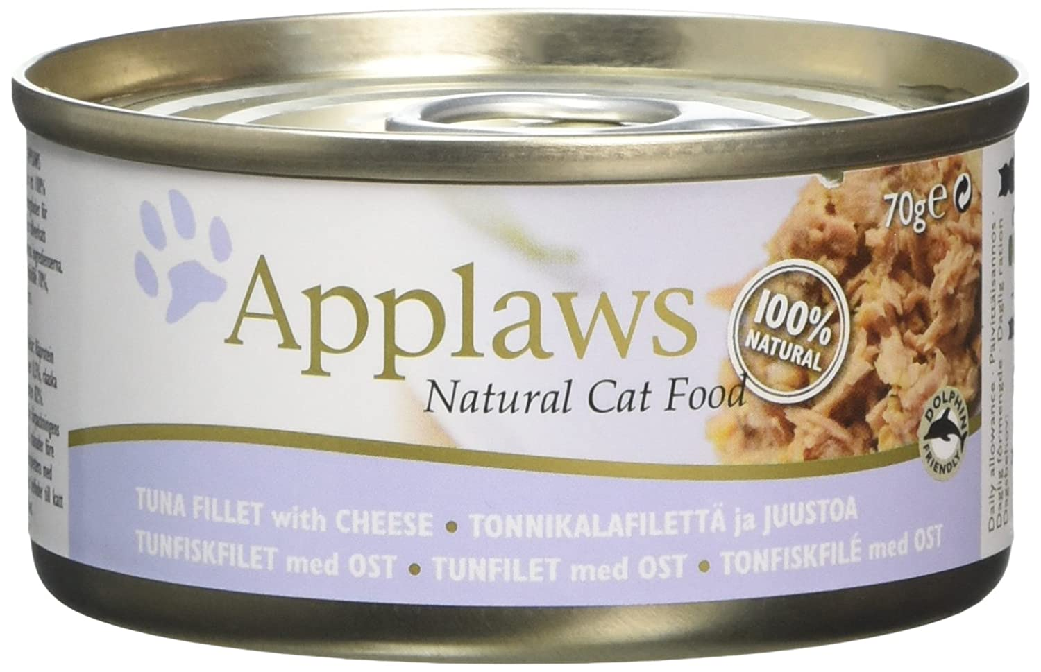 Applaws - Boîte pour chat - Filet de thon/fromage - 70 g - Lot de 24