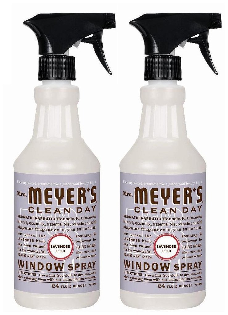 Mrs. Meyer's Clean Day Window Spray Glass Cleaner- Lavender  (2 Pack)