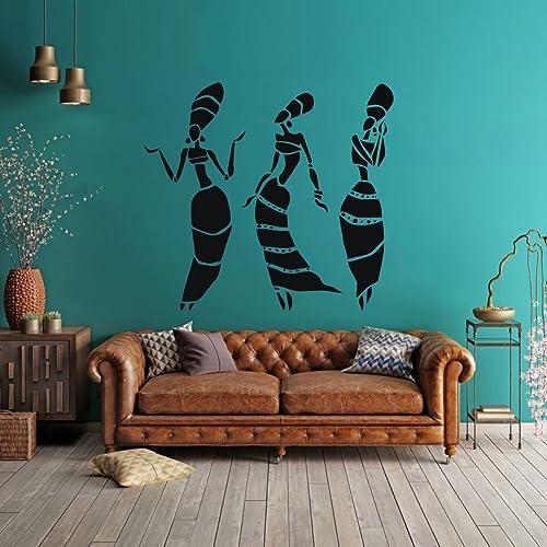 Amazon Com African Women Vinyl Wall Decals Africa Culture Home
