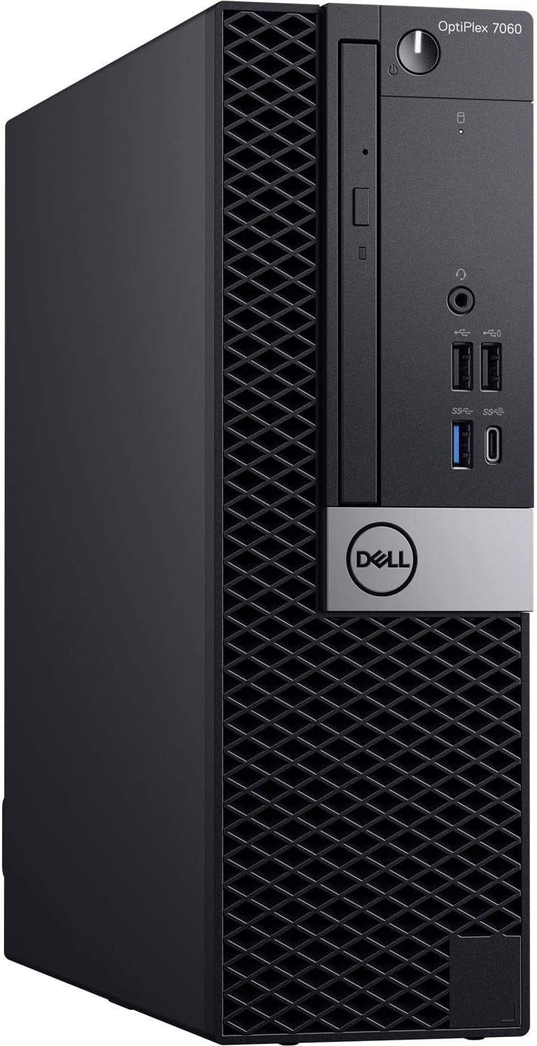 Dell OptiPlex 7060 SFF Desktop Computer Intel Core i7-8700 3.2GHz (Up to 4.60GHz) 6-Core CPU, 16GB DDR4-2666MHz Memory, 1TB NVMe SSD, Windows 10 Pro
