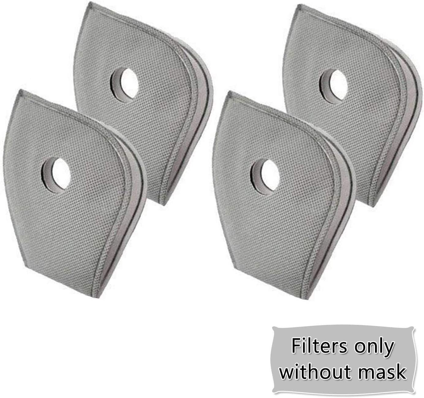 Ready Stock Protective Mouth Filter for Outdoor 5 Layers Replaceable Anti Haze Filters 50 pcs Activated Carbon Filter