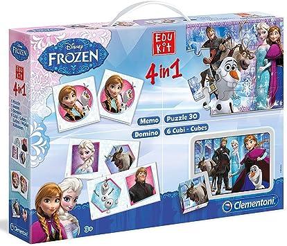 Disney Frozen - 4 en 1 juegos y juegos de puzzle - EDUKIT: Juguetes y juegos - Amazon.es