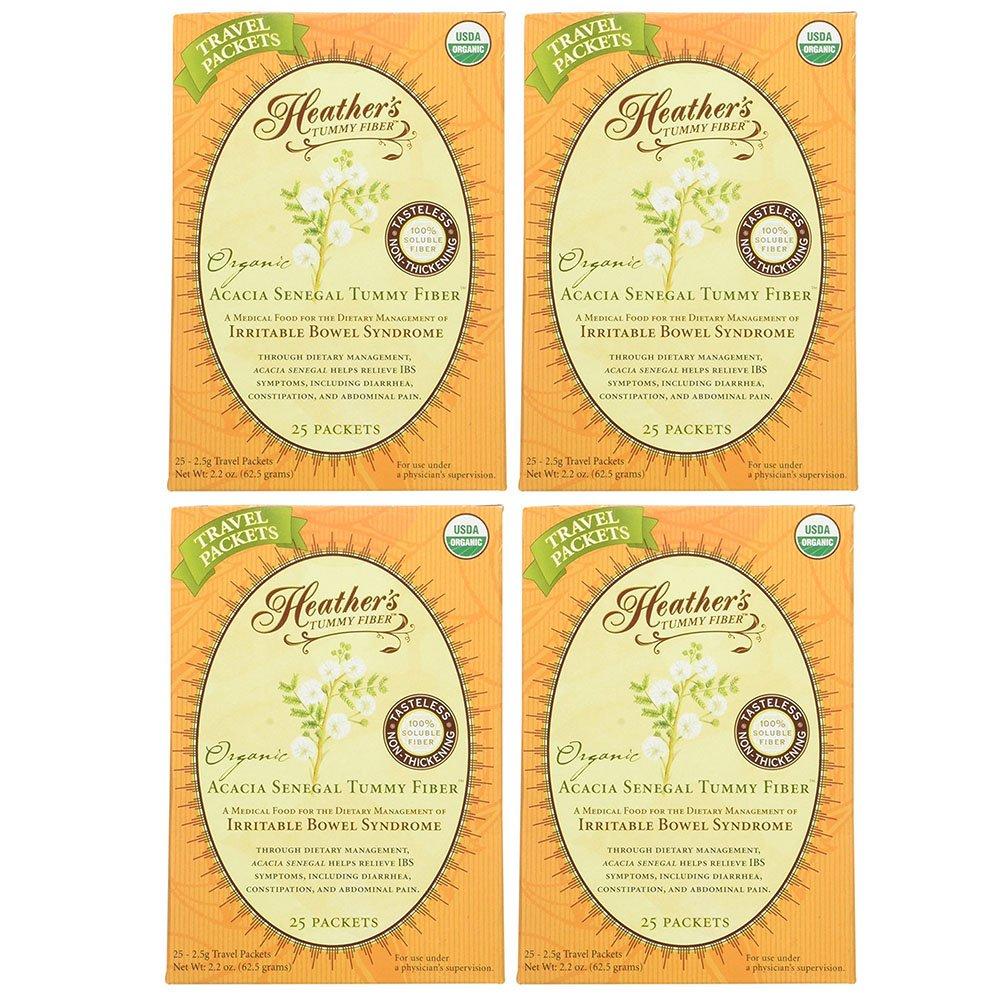 Heather's Tummy Fiber Organic Acacia Senegal Travel Packets (4 Boxes)