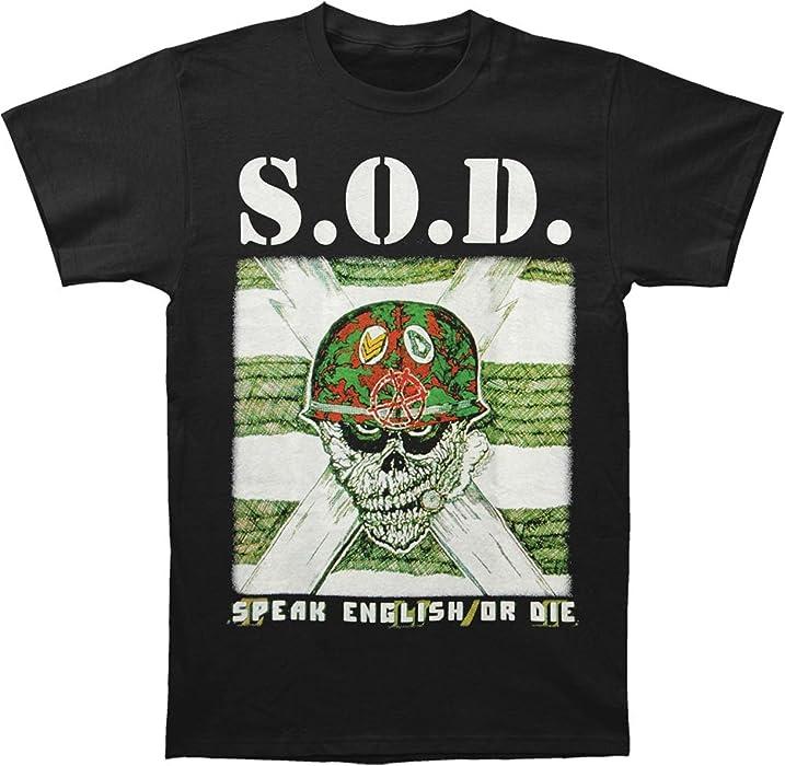 Greucy-darkS.O.D. Mens Speak English Or Die T-shirt Black