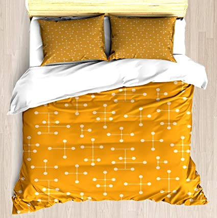 Amazon.com: NTCBED Midcentury Modern Dots 45   Duvet Cover Set