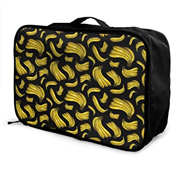 df339a70fc8 YueLJB Banana Lightweight Large Capacity Portable Luggage Bag Travel Duffel  Bag Storage Carry Luggage Duffle Tote