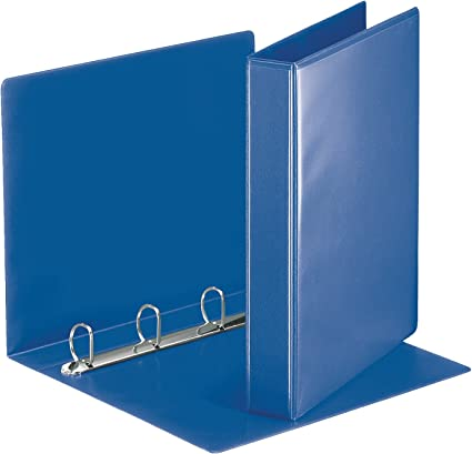 Esselte Group 49700 Essentials - Archivador para presentación (con anillas personalizable, A4, capacidad para 140 hojas, cartón recubierto de polipropileno, anillas 30 mm), color azul: Amazon.es: Oficina y papelería
