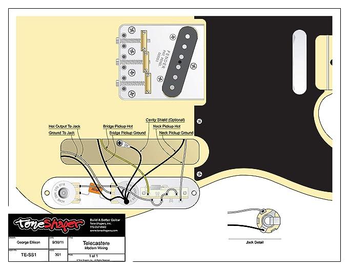 ToneShaper Kit de cableado para guitarra, para Fender Telecaster, SS1 (cableado moderno): Amazon.es: Instrumentos musicales