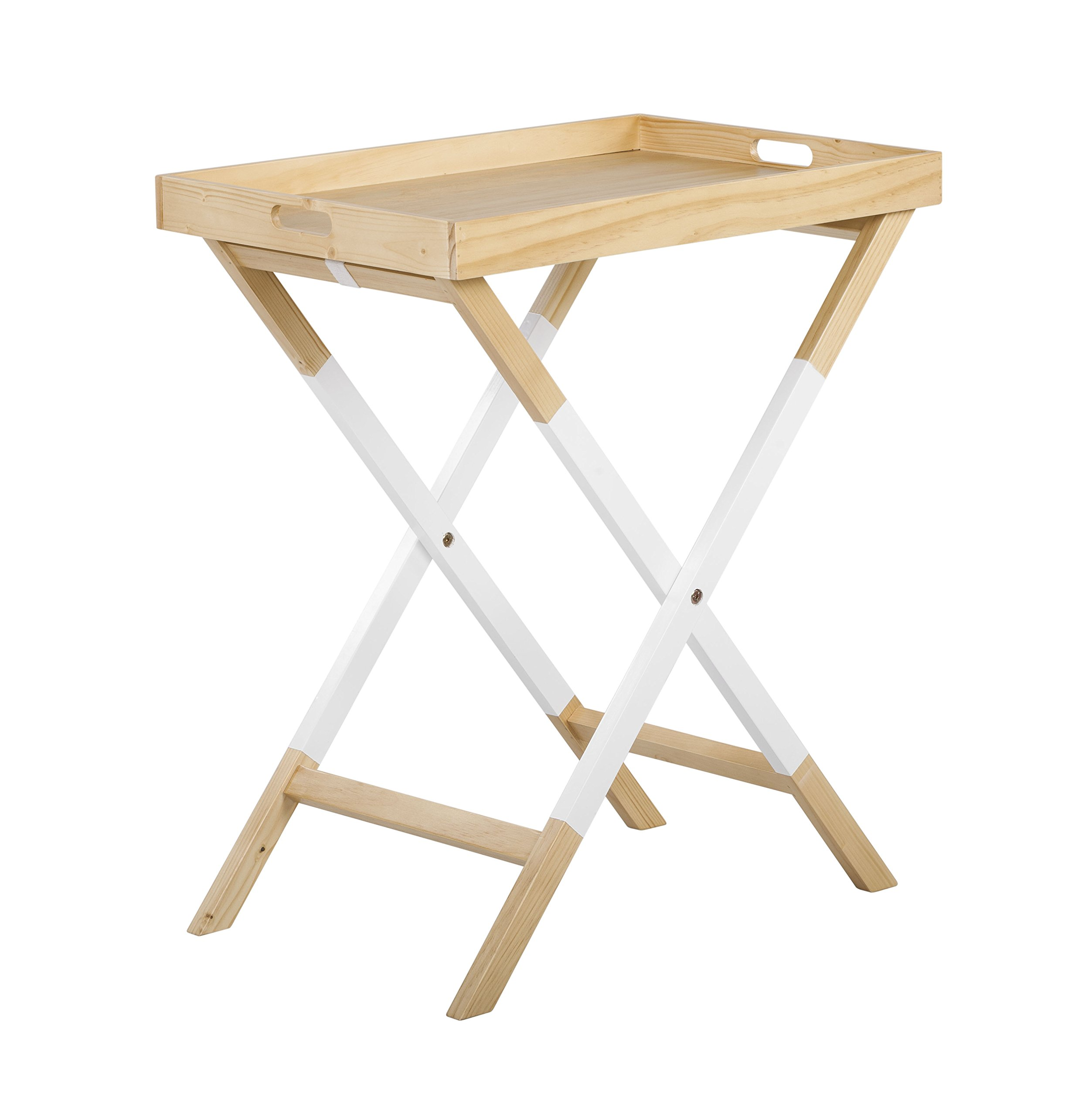 Universal Experts FUST10026A Remus Folding Tray Table, Oak/White by Universal Experts (Image #4)
