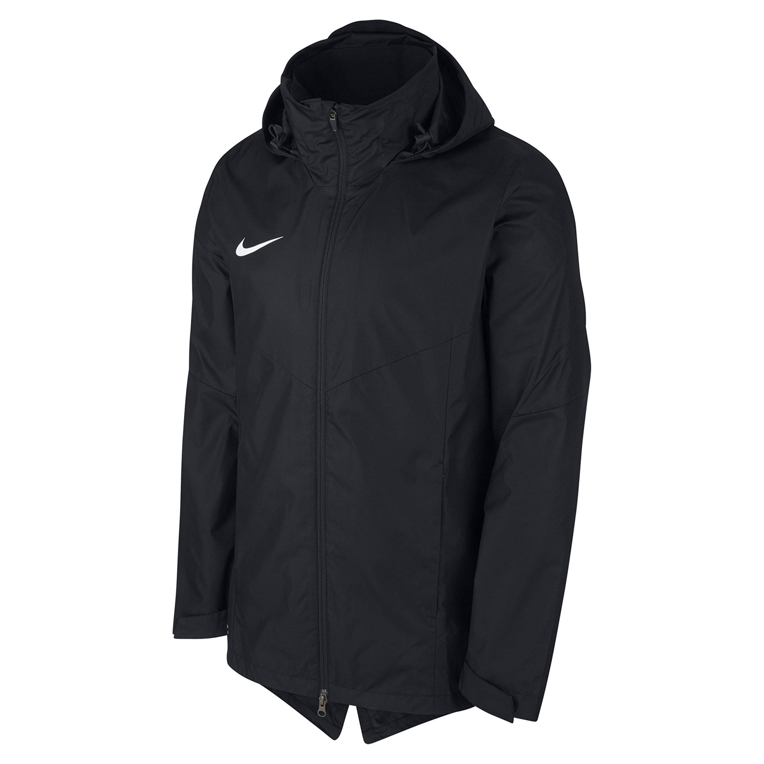 NIKE Boys Academy 18 Rain Jacket (Black, M)