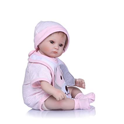 """Xmas 17/"""" Realistic Baby Doll Reborn Lifelike Vinyl Newborn Girl Silicone Doll"""