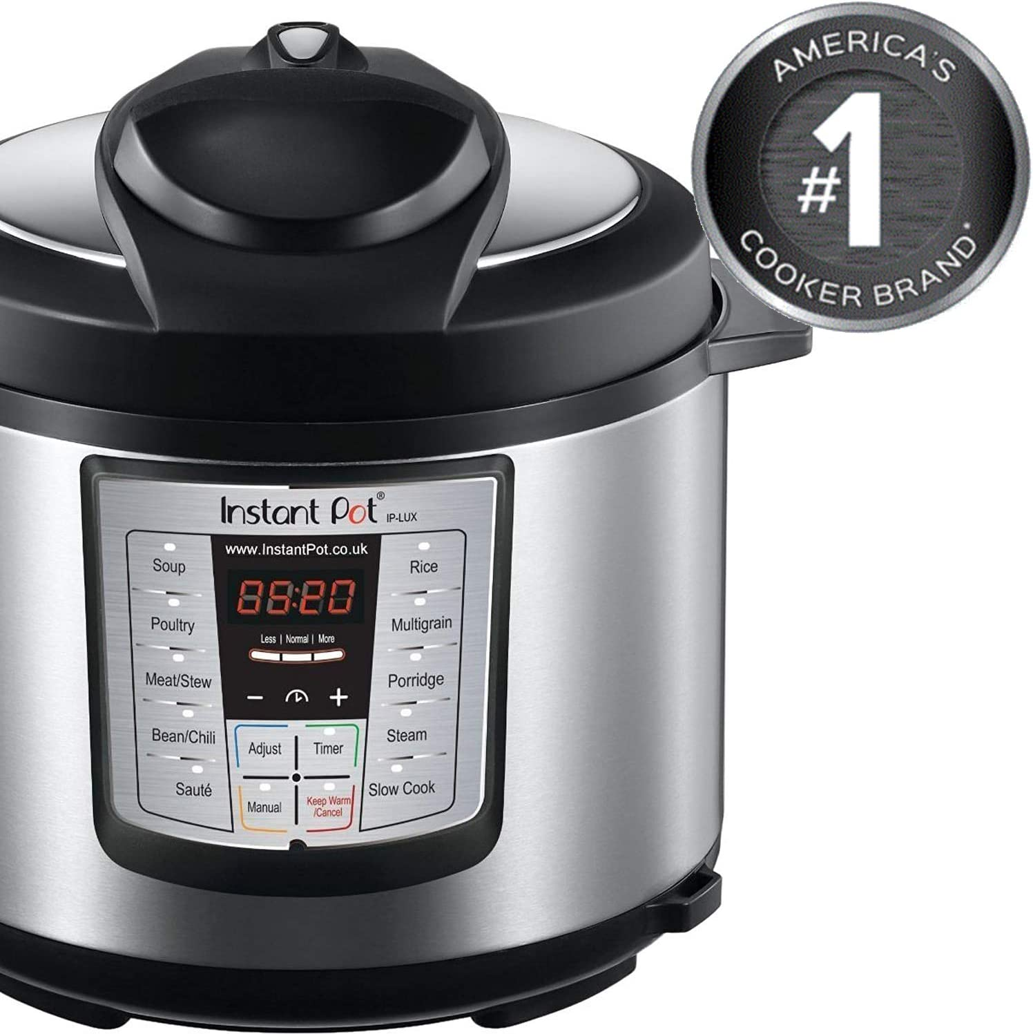 Amazon Com Instant Pot Lux 6 In 1 Electric Pressure Cooker Slow Cooker Rice Cooker Steamer Saute And Warmer 6 Quart 12 One Touch Programs Rice Cookers Pressure Cookers Kitchen Dining