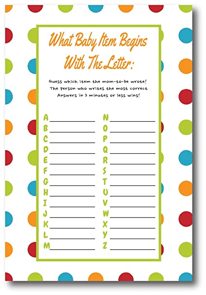 Amazon Com Baby Shower Games For Gender Neutral By L P Designs