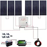 ECO-WORTHY 1000 Watt 1KW 24 Volt Solar Panel Off Grid RV Boat Kit with 45A PWM Charge Controller